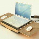 Geanta de laptop care se transforma in sezlong