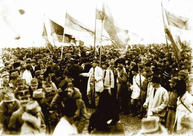 Marea Adunare Națională de la Alba Iulia din 1 decembrie 1918 - fotografie de Samoilă Mârza.