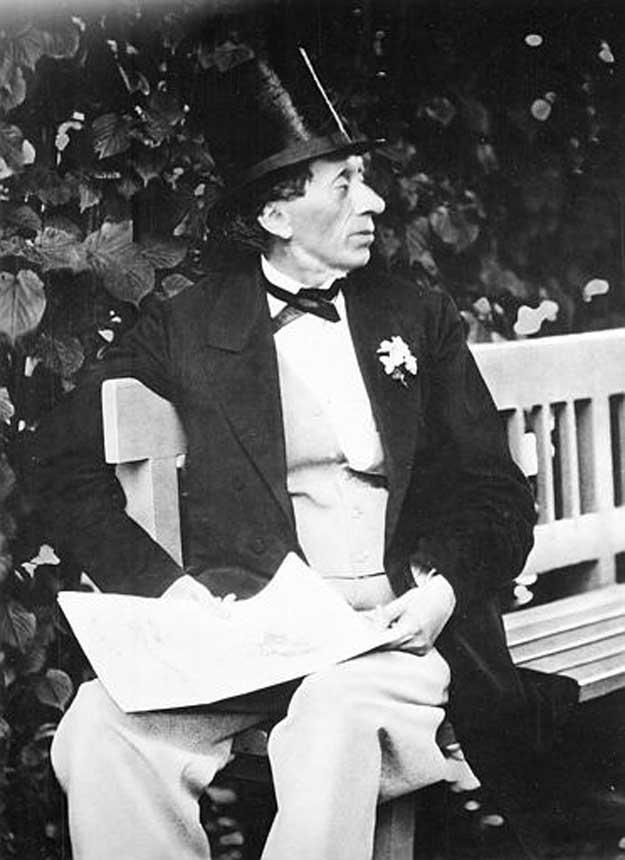 Hans Christian Andersen la 64 de ani.