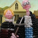 Mari opere de arta reconstruite din baloane