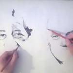 Incredibile portrete în creion