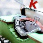 Masina de scris din turta dulce