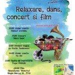 Relaxare, dans, concert si film