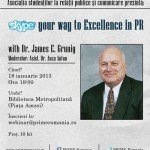Skype Your Way to Excellence in PR with James E. Grunig