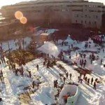 Cea mai mare bătaie cu zăpadă din lume
