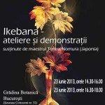 Workshop de aranjamente florale Ikebana susţinut de maestrul japonez Tenkei Nomura