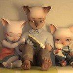 Trei pisici mici