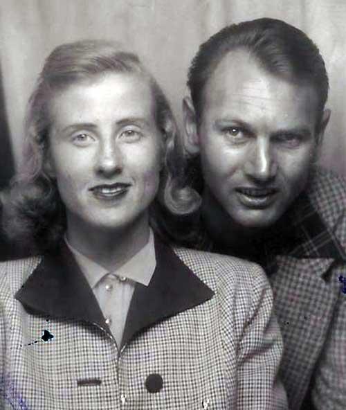 Maxine și Don Simpson la începutul anilor 1950.