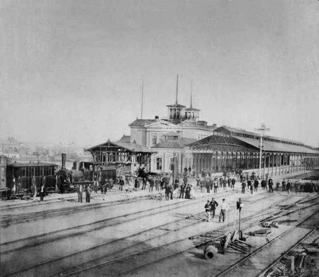 Gara de Nord la inaugurarea din 25 septembrie 1872