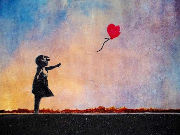 Banksy-dragoste