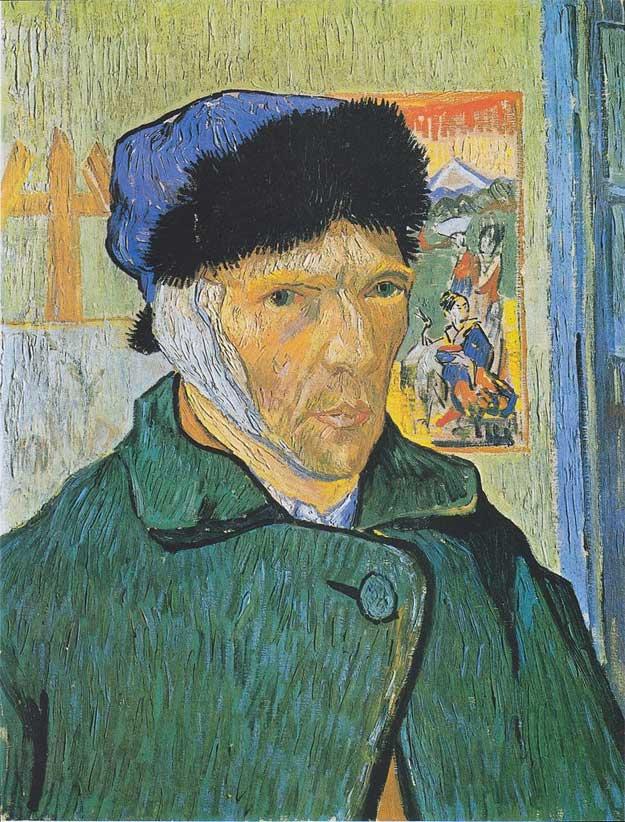 Van Gogh - Autoportret cu urechea bandajată (1889)