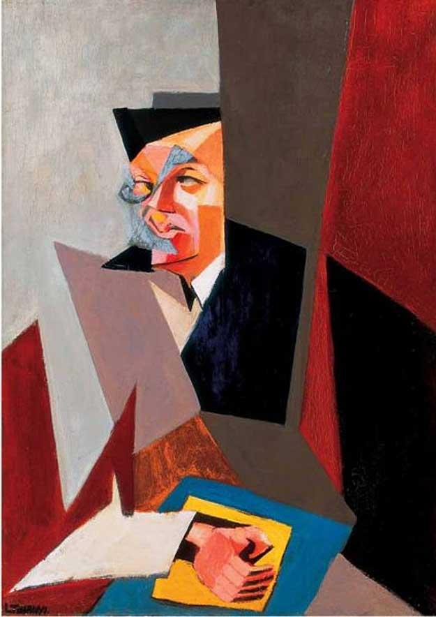 Tristan Tzara, portret de Lajos Tihanyi (1927)