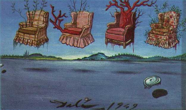 Patru fotolii pe cer - Salvador Dali (1949)