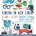 Cinema în aer liber în parcul Titan din București