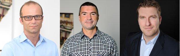 Laurentiu Spermezan , Serban Tir (Gemini Solutions) si Diarmuid Gill (Criteo)